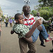 Man and boy fleeing Westgate shopping mall